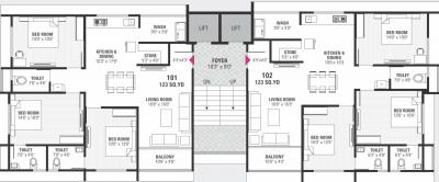 Project Image of 976.5 - 977.15 Sq.ft 3 BHK Apartment for buy in Hiradhan Shubhadra Flats
