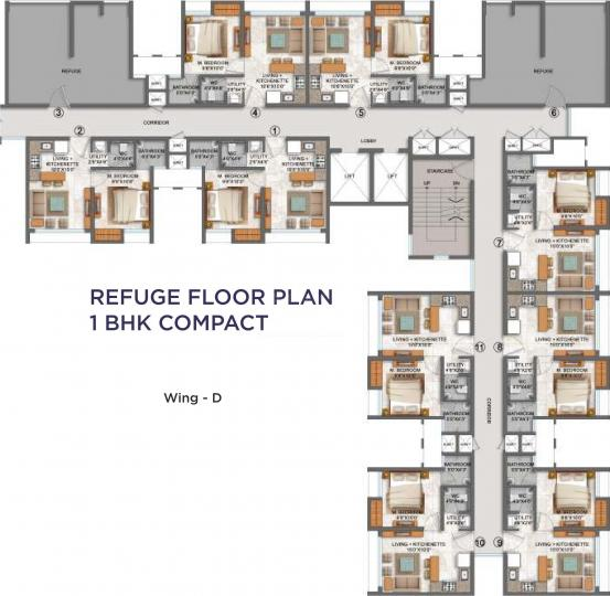 Project Image of 0 - 333.04 Sq.ft 1 BHK Apartment for buy in Lodha Codename Freedom