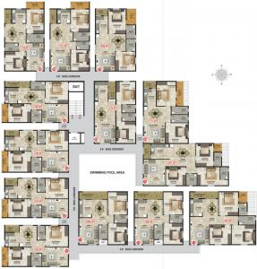 Gallery Cover Image of 1481 Sq.ft 3 BHK Apartment for buy in Sri Balaji Emerald, HBR Layout for 6996170