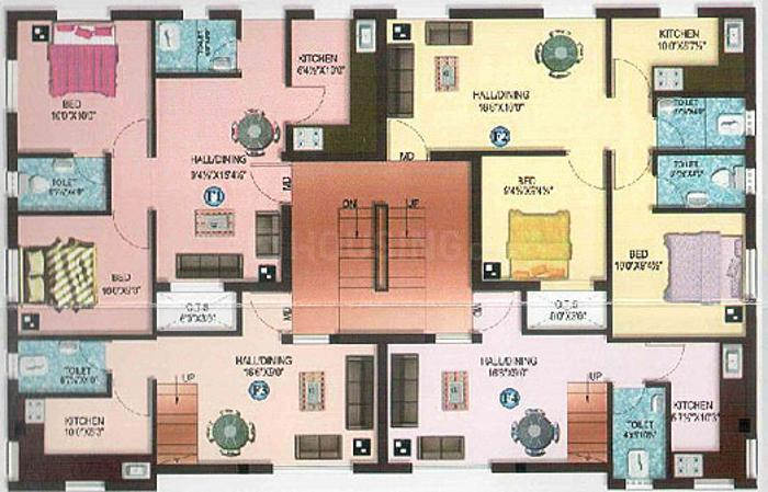 Project Image of 669.0 - 890.0 Sq.ft 2 BHK Apartment for buy in Amraa Pashas Residency