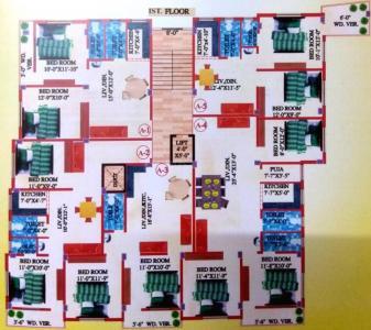एम ए एच जय गणेश अपार्टमेंट 5 में खरीदने के लिए 603.0 - 1394.0 Sq.ft 2 BHK अपार्टमेंट प्रोजेक्ट  की तस्वीर