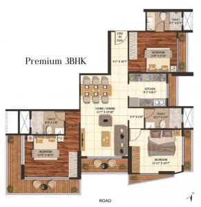 Project Image of 1180.0 - 1220.0 Sq.ft 3 BHK Apartment for buy in Sanghvi Parsssva ExcellenSea