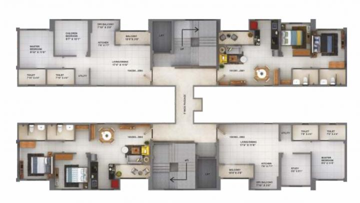Project Image of 551.11 - 586.42 Sq.ft 2 BHK Apartment for buy in Sanas You57 Tower A