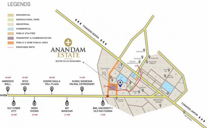 Project Image of 1350.0 - 3933.0 Sq.ft Residential Plot Plot for buy in MGH Anandam Estate