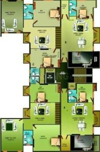 Gallery Cover Image of 1265 Sq.ft 3 BHK Apartment for rent in Asvini Amarisa, Manapakkam for 24000