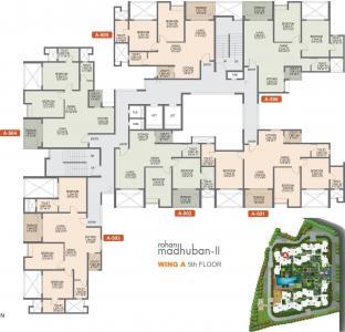 रोहन रोहन मधुबन II विंग्ज ए बी सी में खरीदने के लिए 774.0 - 960.0 Sq.ft 2 BHK अपार्टमेंट प्रोजेक्ट  की तस्वीर