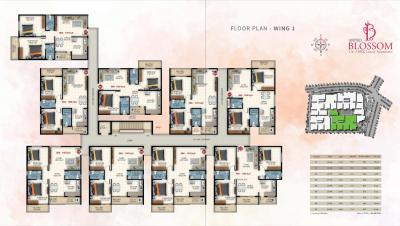 Project Image of 1065.0 - 1505.0 Sq.ft 2 BHK Apartment for buy in United Blossom