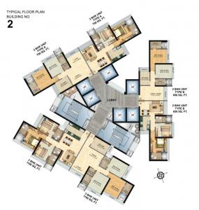 Project Image of 656.0 - 1106.0 Sq.ft 2 BHK Apartment for buy in Nrose Northern Heights
