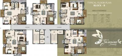 Project Image of 1545.0 - 2085.0 Sq.ft 3 BHK Apartment for buy in Vajra Jasmine County