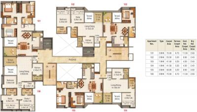 Project Image of 447.0 - 840.0 Sq.ft 1 BHK Apartment for buy in Kumar Pratham A B C