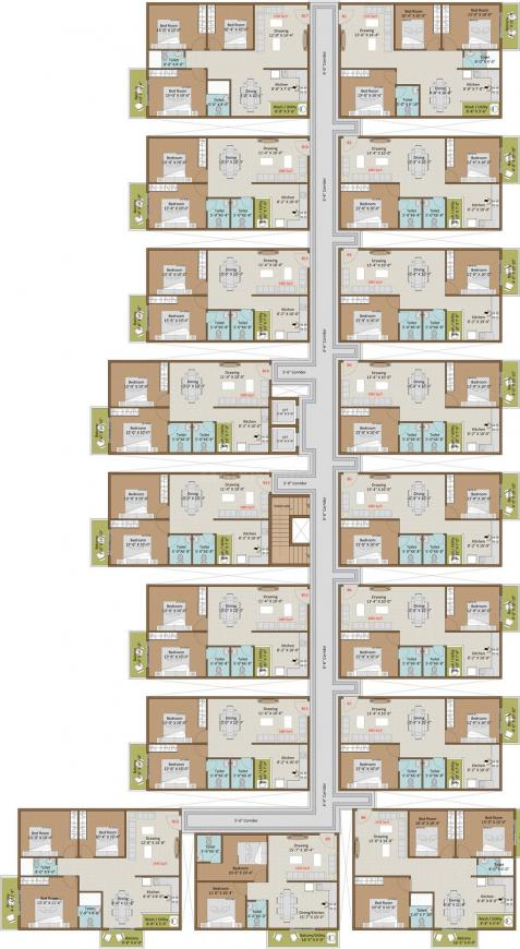 Project Image of 623.83 - 1105.5 Sq.ft 2 BHK Apartment for buy in Cansa Dhaiya