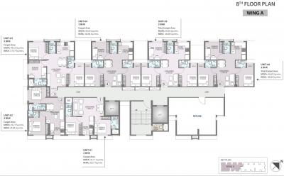 Project Image of 375.0 - 525.0 Sq.ft 2 BHK Apartment for buy in Hubtown Harmony A Wing