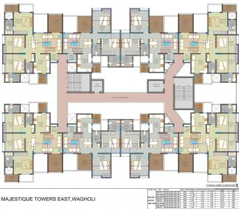 Project Image of 465.0 - 771.23 Sq.ft 2 BHK Apartment for buy in Majestique Towers East