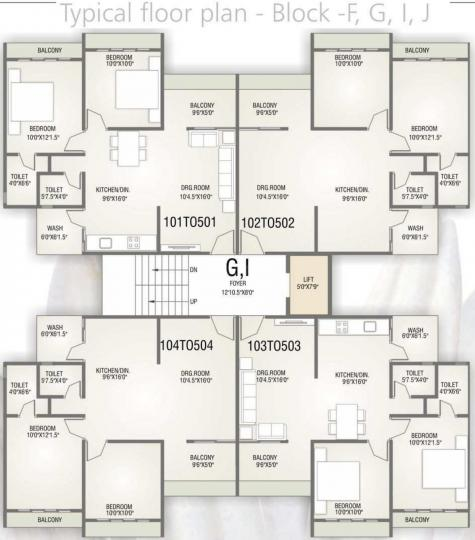 Project Image of 1188.0 - 1296.0 Sq.ft 2 BHK Apartment for buy in Shree Hari Nirmit Flora