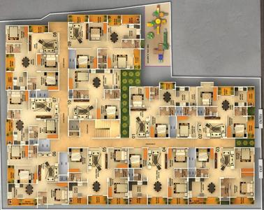 Gallery Cover Image of 1450 Sq.ft 3 BHK Apartment for rent in DS Max Santhrupthi Nest, Annapurneshwari Nagar for 25000