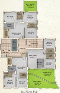 Gallery Cover Image of 1388 Sq.ft 3 BHK Apartment for rent in Oswal Orchard County, Belghoria for 18000