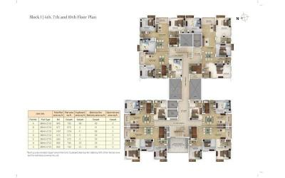 Gallery Cover Image of 1263 Sq.ft 3 BHK Apartment for buy in Merlin Verve, Tollygunge for 12500000