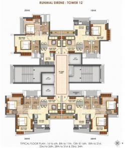 Project Image of 424.0 - 568.0 Sq.ft 1 BHK Apartment for buy in Runwal BIG SHOT