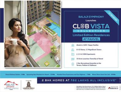 Project Image of 608.0 - 931.0 Sq.ft 2 BHK Apartment for buy in Balaji Symphony