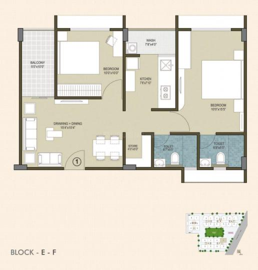 Project Image of 0 - 1210.0 Sq.ft 2 BHK Apartment for buy in Indraprasth Homes