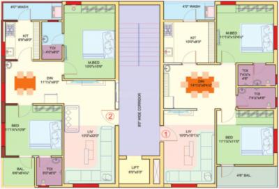 Project Image of 779.85 - 1120.85 Sq.ft 2 BHK Apartment for buy in Rohan Pride