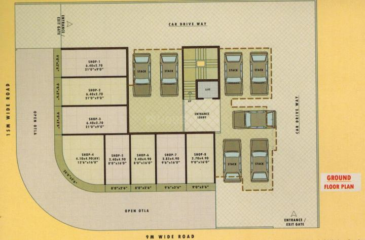 Project Image of 435.0 - 665.0 Sq.ft 1 RK Apartment for buy in Ashiana Pratik Heritage