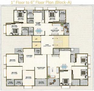 Project Image of 894.0 - 908.0 Sq.ft 3 BHK Apartment for buy in AVM Sudarshan Residency