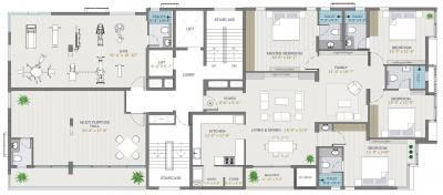 Gallery Cover Image of 1855 Sq.ft 3 BHK Apartment for buy in Arihant Vihaana, Kilpauk for 25042500