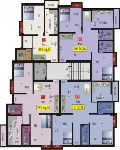 Project Image of 481.0 - 1069.0 Sq.ft 1 BHK Apartment for buy in VGK Aathmika
