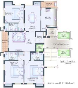 Project Image of 0 - 1725.0 Sq.ft 3 BHK Apartment for buy in Nahar Tulasi