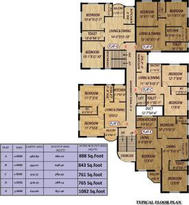 Project Image of 761.0 - 1082.0 Sq.ft 2 BHK Apartment for buy in Mondal Porichoy Apartment