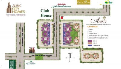 Gallery Cover Image of 484 Sq.ft 1 BHK Apartment for buy in Auric City Homes, Sector 82 for 1645000