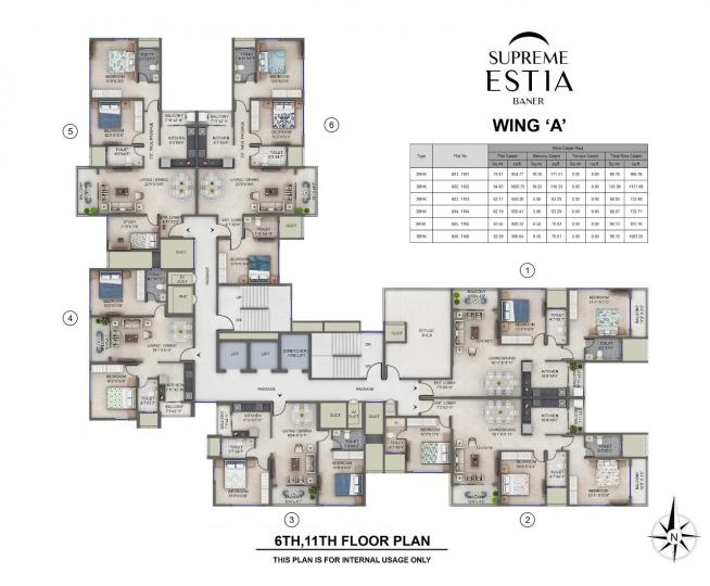 Project Image of 668.44 - 1020.74 Sq.ft 2 BHK Apartment for buy in Supreme Estia Phase I