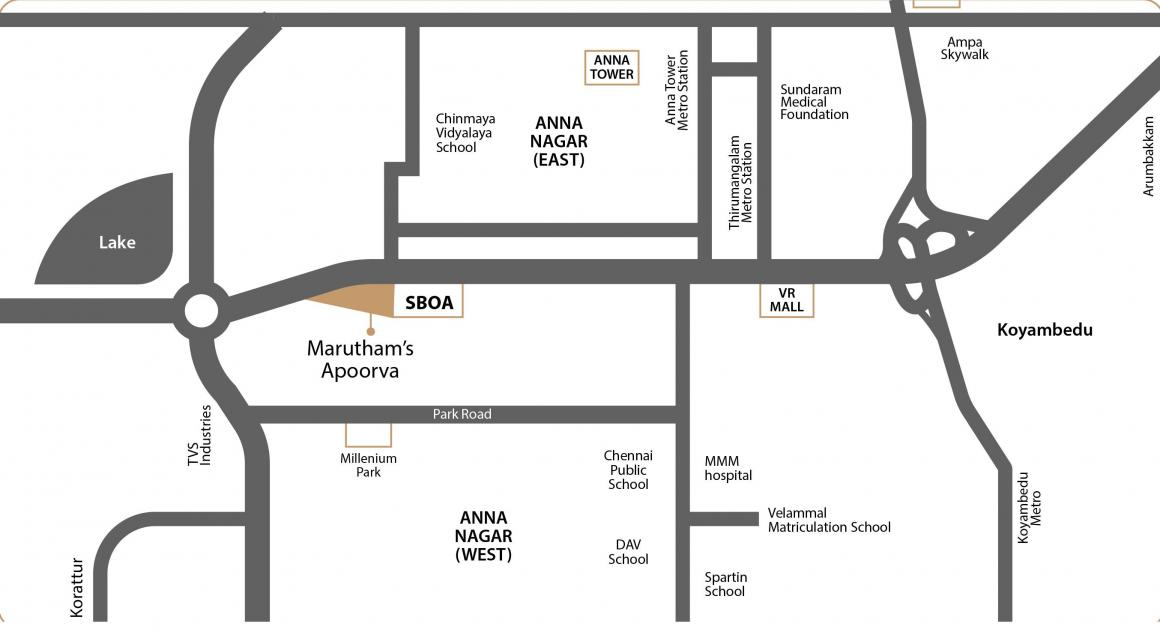 Project Image of 1300 - 1700 Sq.ft 3 BHK Apartment for buy in Marutham Apoorva