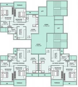 ओम शिवम अपार्टमेंट्स में खरीदने के लिए 0 - 592.0 Sq.ft 2 BHK अपार्टमेंट प्रोजेक्ट  की तस्वीर