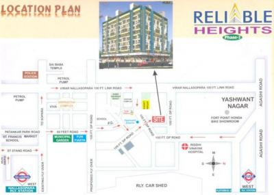 Gallery Cover Image of 580 Sq.ft 1 BHK Apartment for rent in Reliable Heights, Nalasopara West for 9000