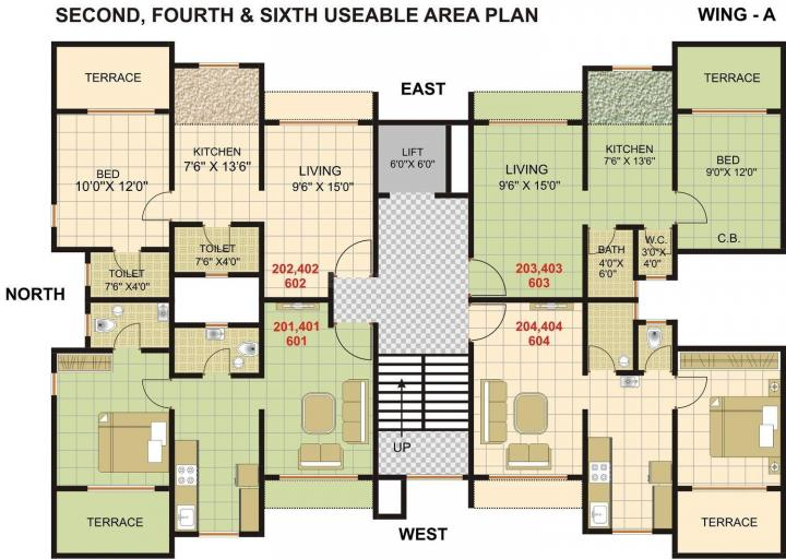 Project Image of 371.35 - 623.98 Sq.ft 1 BHK Apartment for buy in Shrinath Anand Homes