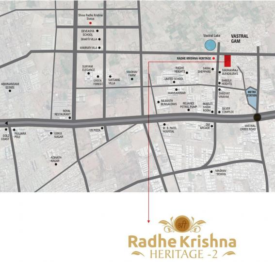 Project Image of 828 - 1134 Sq.ft 1 BHK Apartment for buy in Shyam Shree Radhe Krishna Heritage 2