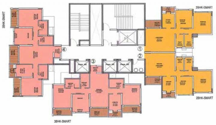 Project Image of 611.71 - 1570.99 Sq.ft 2 BHK Apartment for buy in R Retail The Central Park Phase I