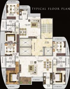 Project Image of 1583.69 - 1649.14 Sq.ft 4 BHK Apartment for buy in Nandivardhan Park Pallazzo