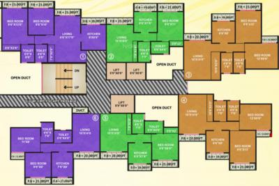 Project Image of 412.04 - 578.99 Sq.ft 1 BHK Apartment for buy in Vama Paradise