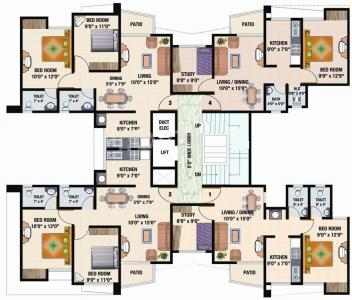 Gallery Cover Image of 670 Sq.ft 1 BHK Apartment for rent in Sadguru Complex, Mira Road East for 18000