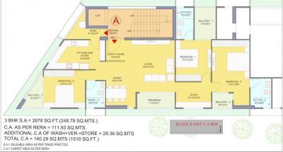 Project Image of 1510.0 - 3256.0 Sq.ft 3.5 BHK Apartment for buy in Bakeri Sansita Pratham