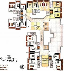Project Image of 384.0 - 543.0 Sq.ft 1 BHK Apartment for buy in Unity Serenity Gardens Wing E And F