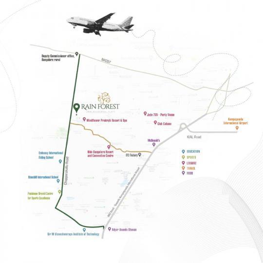 Project Image of 1575.0 - 2400.0 Sq.ft Residential Plot Plot for buy in Shriram Rain Forest