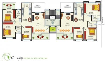 Project Image of 1217 - 1290 Sq.ft 3 BHK Apartment for buy in GK Rose County