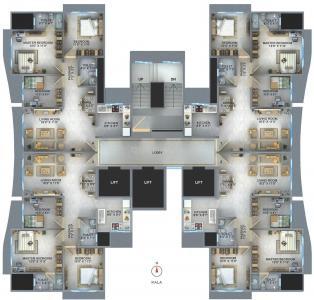 किन्नर गोवेर्धांगिरी में खरीदने के लिए 0 - 758.0 Sq.ft 3 BHK अपार्टमेंट प्रोजेक्ट  की तस्वीर