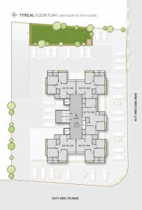 Project Image of 777.0 - 782.0 Sq.ft 3 BHK Apartment for buy in Gandhi Vraj Residency 3