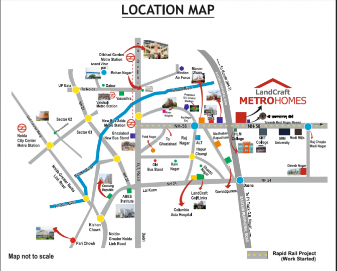 Project Image of 380.0 - 643.9 Sq.ft 1 BHK Apartment for buy in Land Craft Metro Homes Phase 2