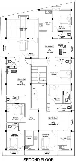 Project Image of 799.0 - 901.0 Sq.ft 2 BHK Apartment for buy in SI Swastika